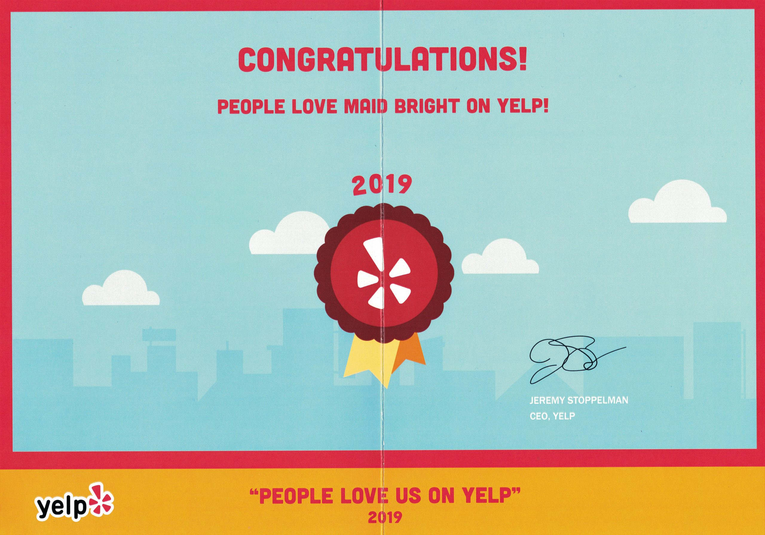 Yelp Awards 2019