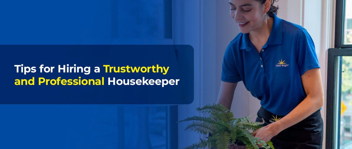 housekeeper watering plant
